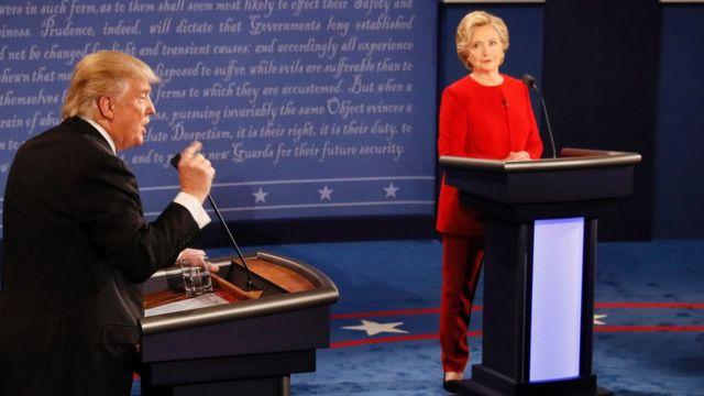 क्लिंटन-ट्रंप राष्ट्रपति डिबेट में