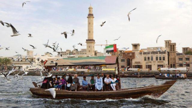 Водное такси в Дубайской бухте
