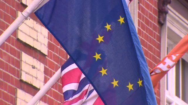 EU and GB flags