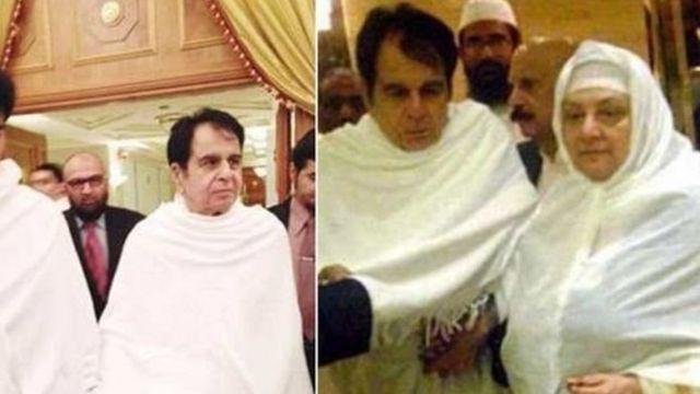 Dilip Kumar da matarsa a yayin aikin Hajj