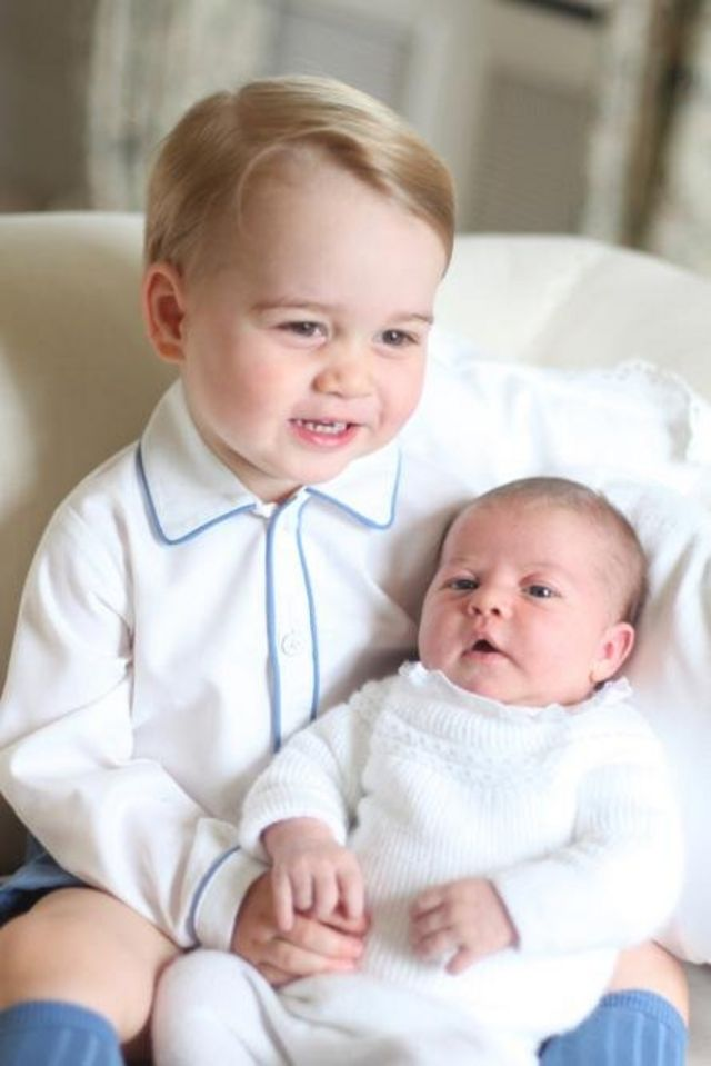 A month later, on 6 June 2015, the Duchess of Cambridge took a photo of George and Charlotte together at the family home, Anmer Hall in Norfolk.