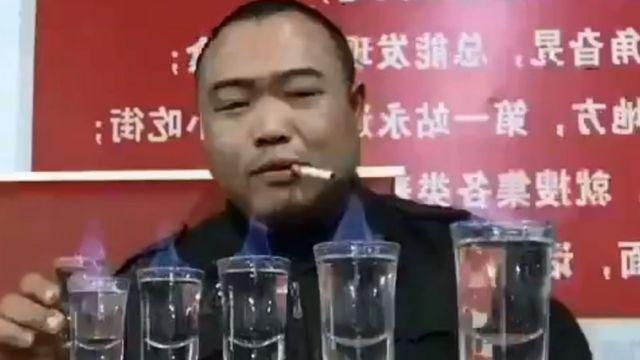 Liu Shichao a punto de comenzar uno de sus desafíos.