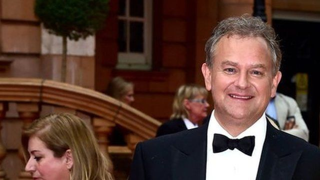 Hugh Bonneville and his wife Lulu Williams attend a BAFTA tribute evening for Downton Abbey