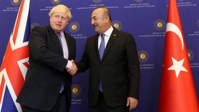 Boris Johnson və Mevlut Cavusoglu