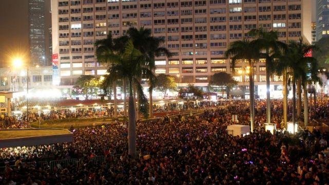 हॉन्ग कॉन्ग में नए साल का जश्न