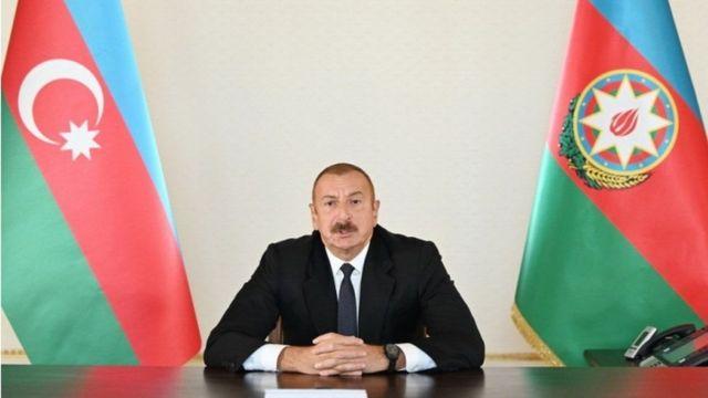 madaxwaynaha Azerbaijan Ilham Aliyev oo Telefishinka dalkaasi ka hadlaya