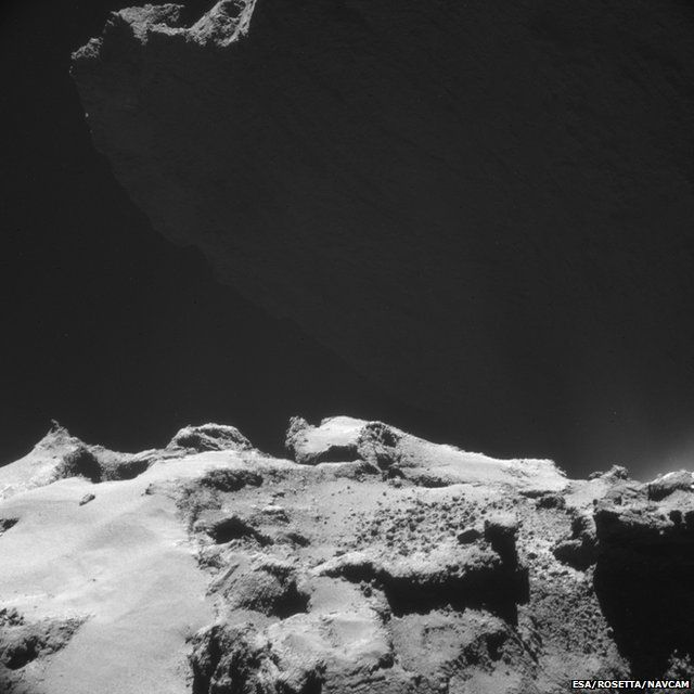 comet surface, photographed by Rosetta