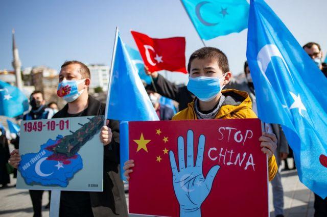 İstanbul'daki Uygur türklerininlerinin.