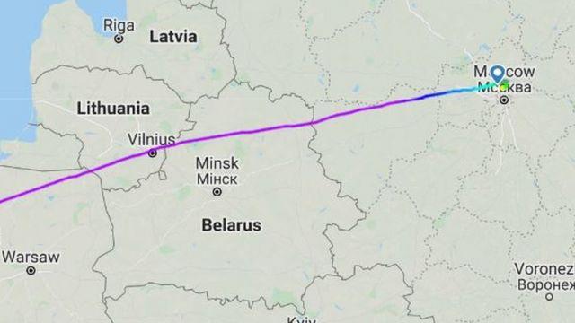 Скриншот с сайта Flightradar24