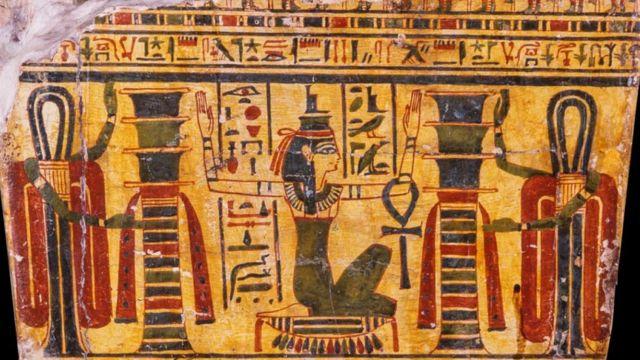 Esquife de Hori, da coleção egípcia do Museu Nacional