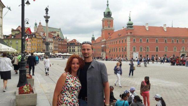 Сильвия Лещинска и ее муж Конрад