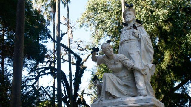 Monumento de Giuseppe e Anita Garibaldi em Porto Alegre
