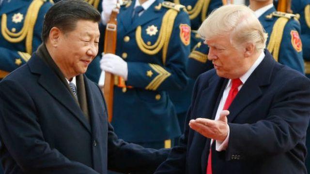 Xi Jinping onyeisiala China na Donald Trump, onyeisiala Amerịka