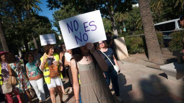 (캡션) 스페인 말라가에서 열린 시위