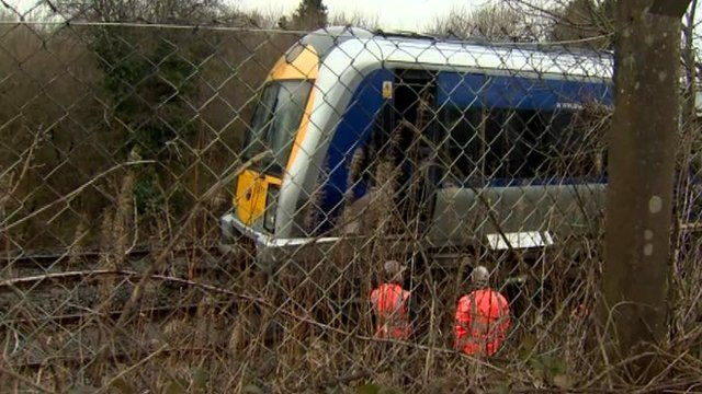 The incident happened on the railway line close to Knockmore industrial estate in Lisburn