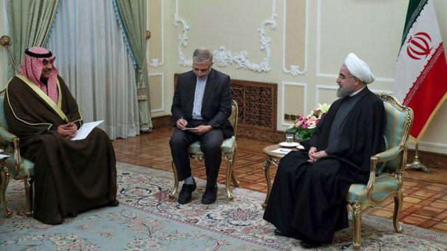 لقاء وزير خارجية الكويت مع الرئيس روحاني