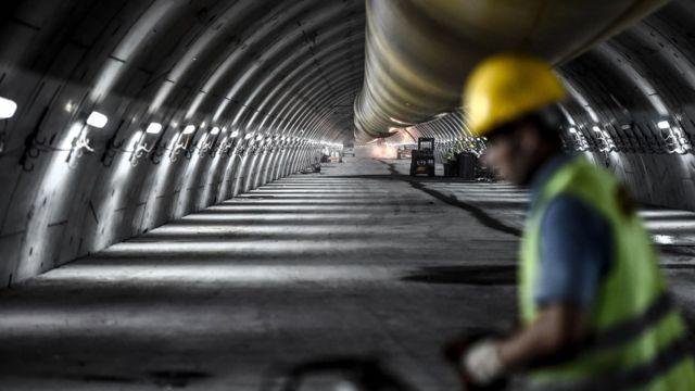 Eurasia Tunnel works