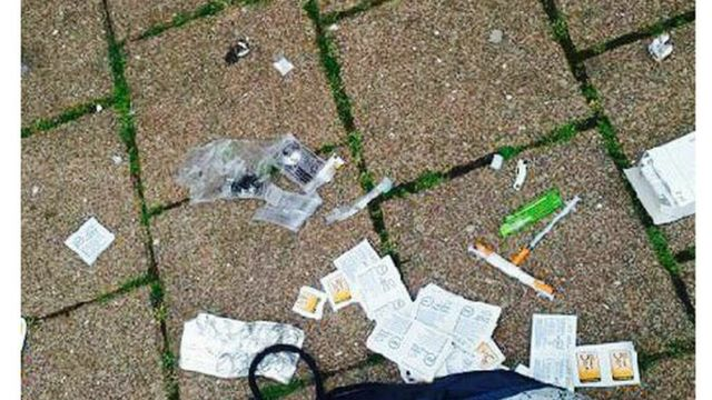 Needles dumped in the streets of Butetown
