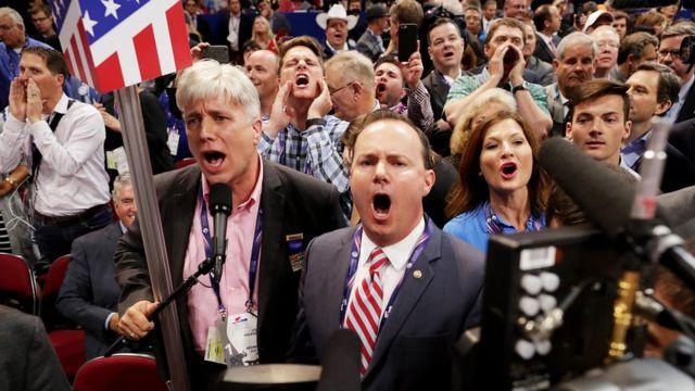 Los políticos que gritaron en contra de Trump en el primer día de la Convención