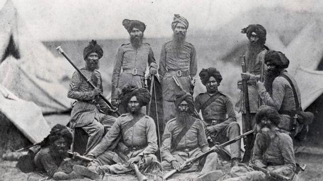 साल 1858 में ब्रिटिश 15वीं पंजाब इन्फ़ैंट्री रेजिमेंट के सिख जवान