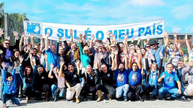 Apoiadores da separação da região sul do Brasil