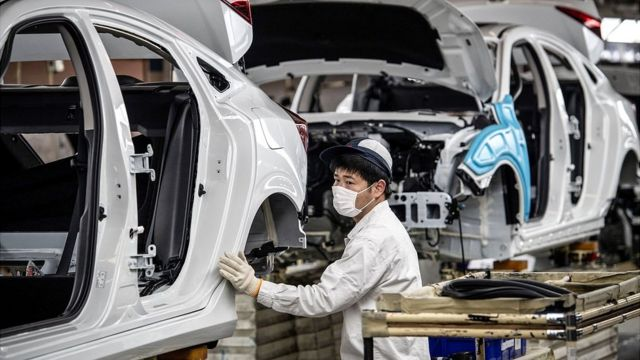 Producción de carros en China