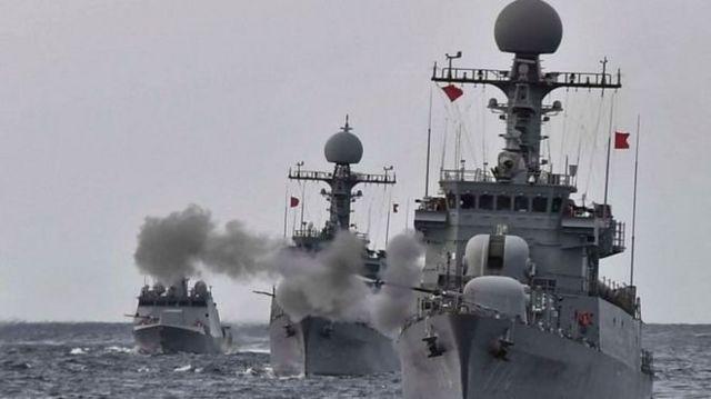 တောင်ကိုရီးယားဘက်ကလည်း လက်နက်အစစ်တွေနဲ့ စစ်ရေးလေ့ကျင့်နေ