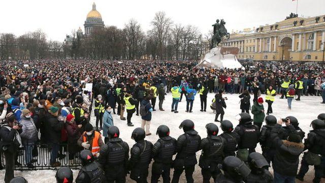 Протесты в Петербурге