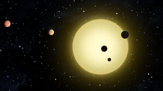 Ilustración de exoplanetas