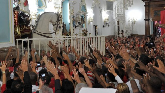 Reunión de evangelistas en una iglesia de Río de Janeiro.