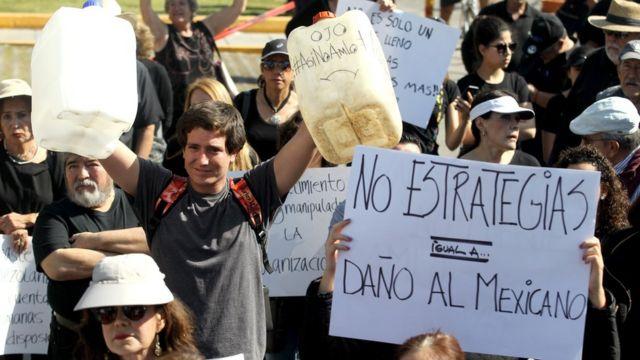Protestas en México.