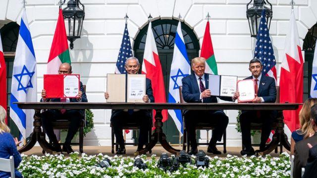 BAE ve Bahreyn, İsrail ile Beyaz Saray'da normalleşme anlaşması imzaladı.