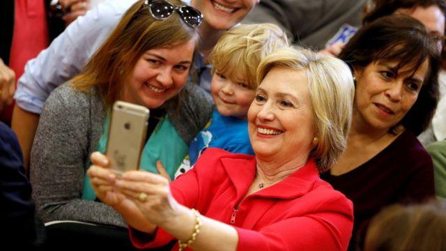 A candidata democrata Hillary Clinton