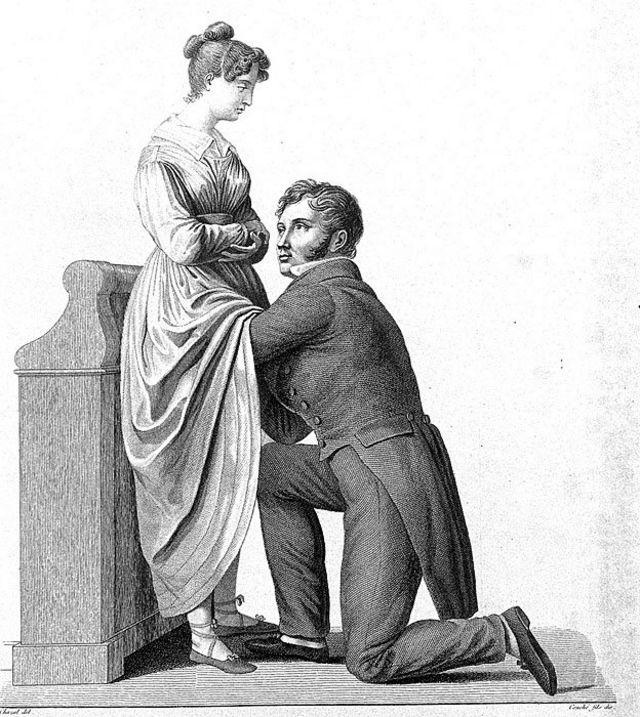 Ilustración de un examen ginecológico