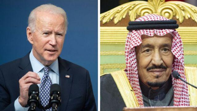 سعودی بادشاہ اور امریکی صدر بائیڈن