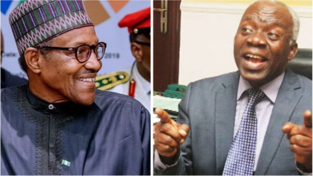 President Buhari and Femi Falana