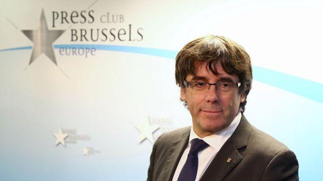 Carles Puigdemont Brüksel'de