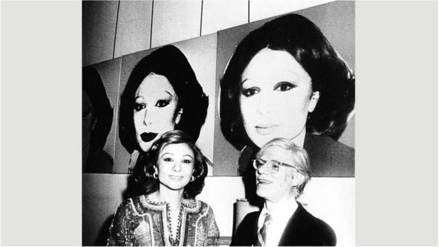 Farah Pahlavi e Andy Warhol