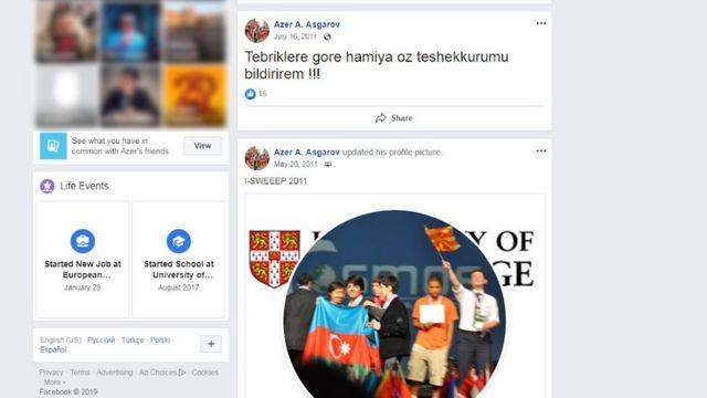 Azər Əsgərovun Facebook paylaşımı