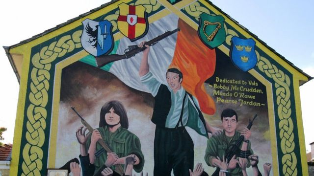Mural nacionalista en Irlanda del Norte