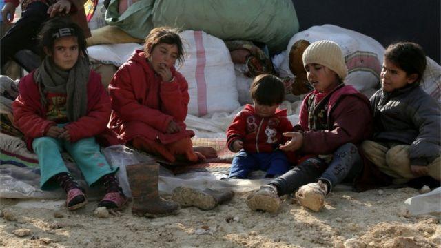 عائلات مشردة في سوريا