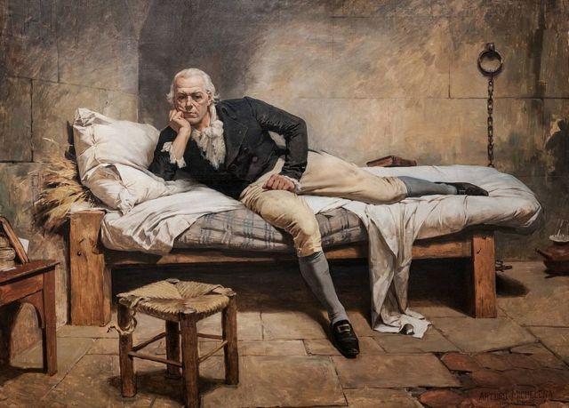 """""""Miranda en La Carranca"""", la prisión en Cádiz donde murió, en esta obra de Arturo Michelena de 1896 que está en la Galería de Arte Nacional de Venezuela en Caracas."""