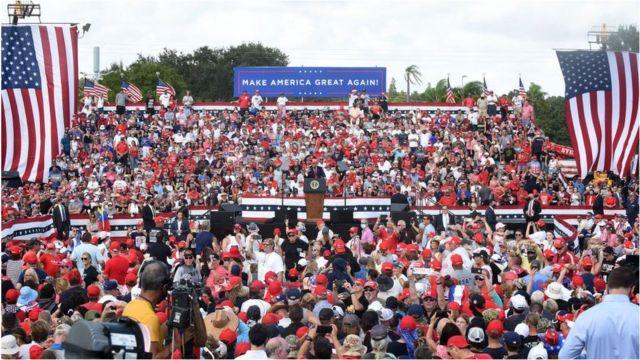 Mitin de Trump en Florida.