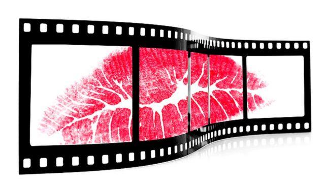 Beso en film