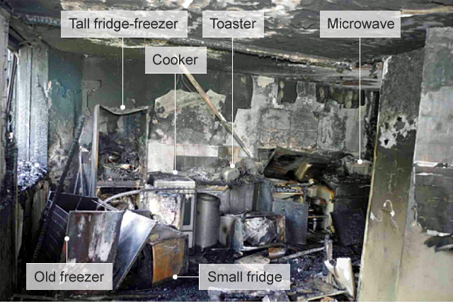 The kitchen where the fire started