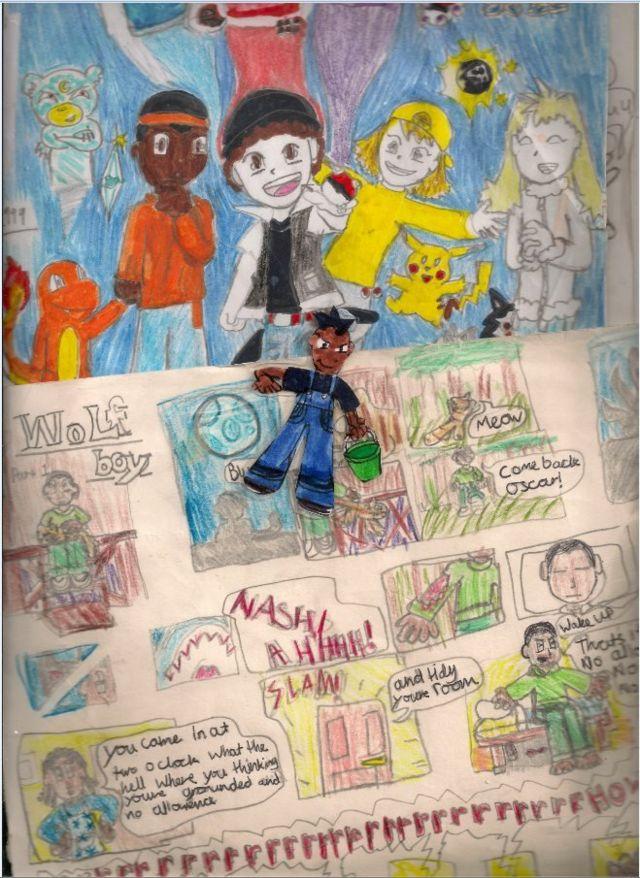 Crni strip junaci koje je Džejkob Džojs crtao