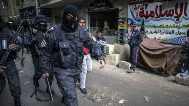 قوات أمن مصرية