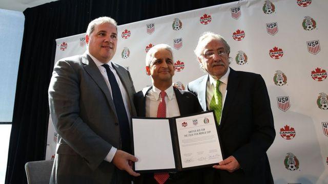 Los presidentes de las federaciones de México, EE.UU. y Canadá
