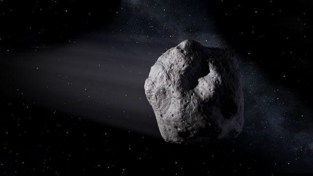 Imagem de asteroide feita
