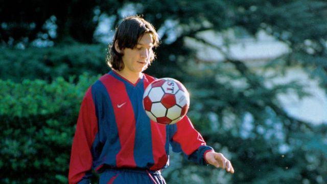 Lionel Messi a los 16 años
